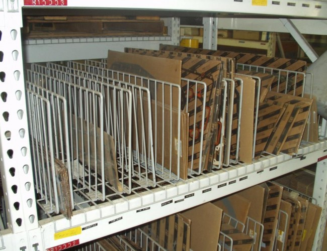 Pic 2 Pallet Rack with Wire Decks and Wire Dividers